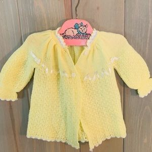 Vintage yellow baby sweater
